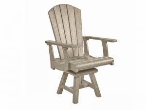Recycled Plastic Adirondack Swivel Dining Arm Chair