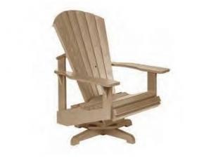 Recycled Plastic Adirondack Chair - Swivel Base