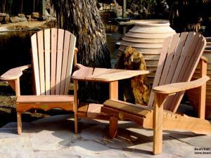 Two Person Angled Cedar Adirondack/Muskoka Chair