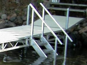 Shoremaster Dock Steps with Handrails