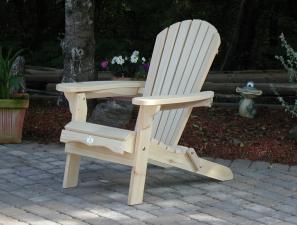Folding Pine or Cedar Adirondack/Muskoka Chair