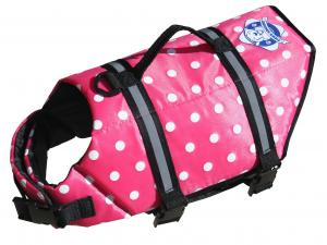 Paws Aboard Pink Dog Life Jacket