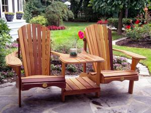 CottageSpot: Two Person Cedar Adirondack / Muskoka Chair