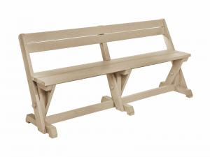 Recycled Plastic Harvest Dining Table Bench w. Back