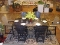 Recycled Plastic Double Pedestal Dining Set
