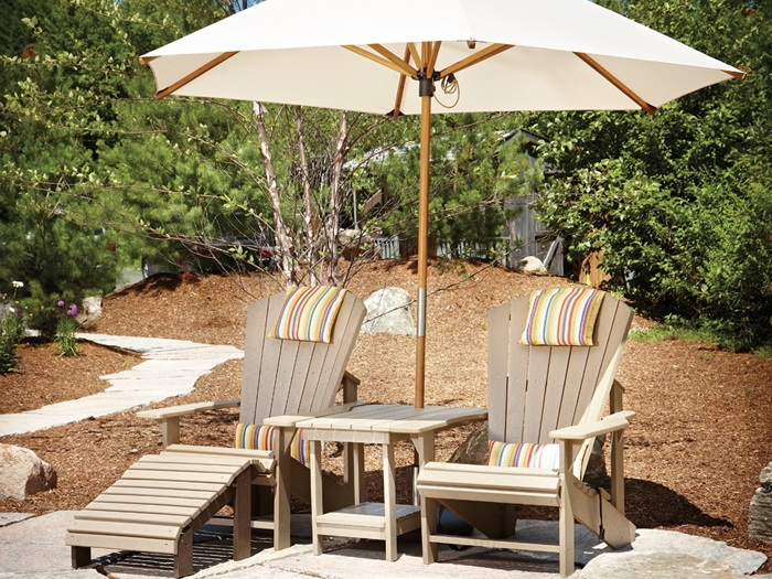 Recycled Plastic Adirondack Chair Grouping
