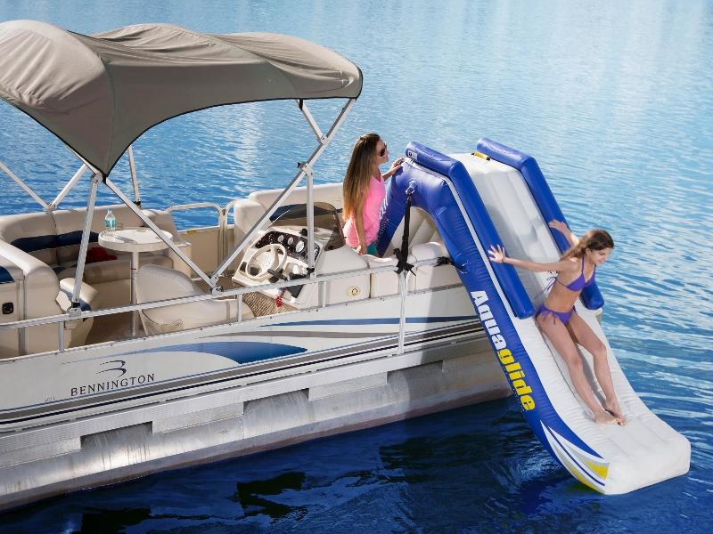 Watertrampolines Aquaglide Pontoon Boat Slide