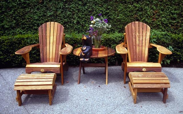 CottageSpot Deluxe Cedar Adirondack Muskoka Chair