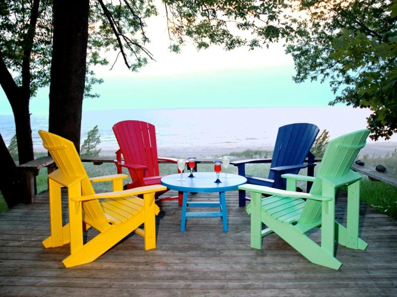 ... , recycled plastic. Create a grouping with your Adirondack chairs