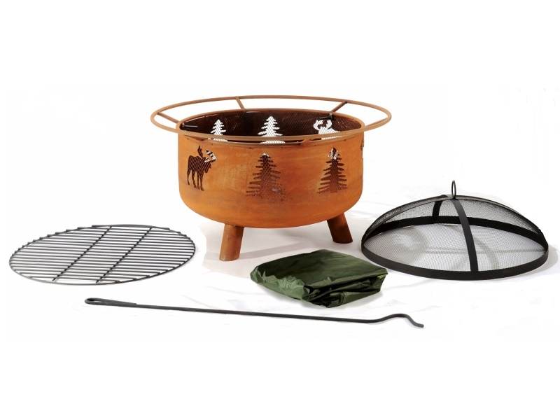 Great Canadian Fire Pit Moose Design