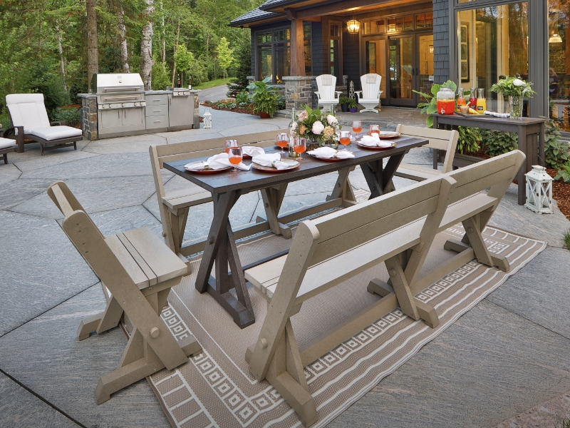 Recycled Plastic Harvest Dining Set 1