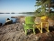 Adirondack Chairs on Shore