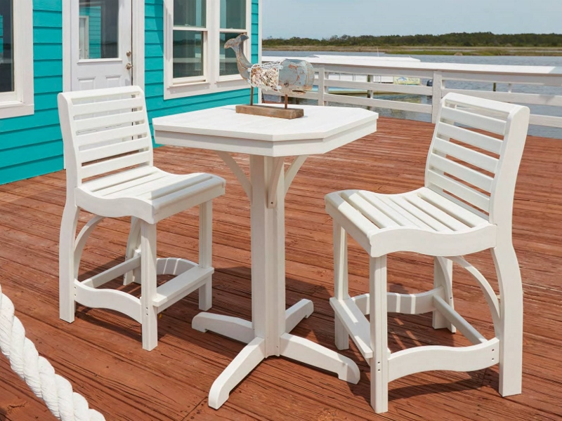 Recycled Plastic St. Tropez Counter Height Dining Set