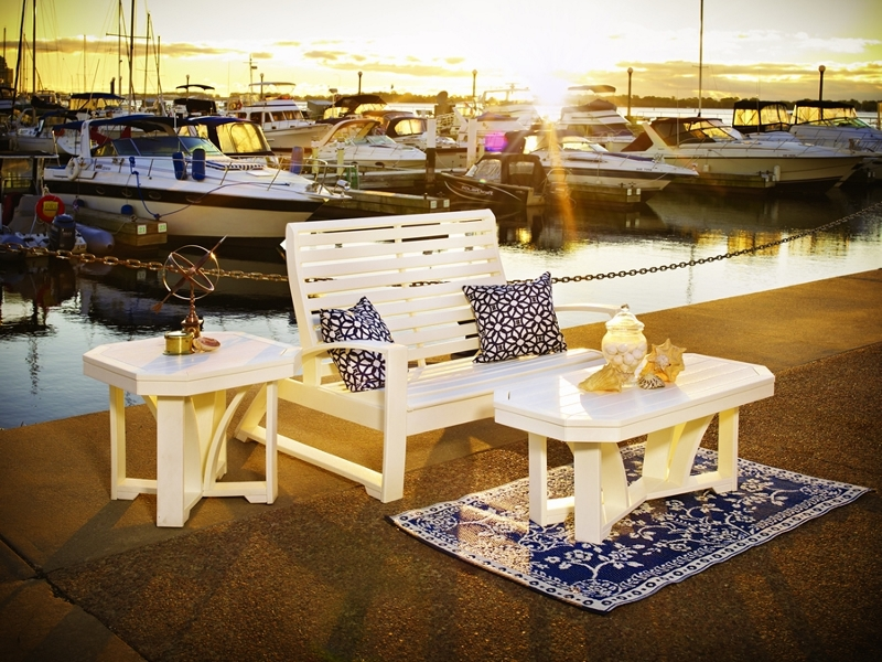 St. Tropez Recycled Plastic Square End Table