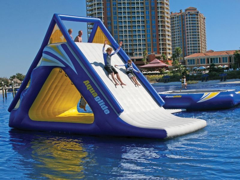 Watertrampolines Aquaglide Summit Water Slide And Climber