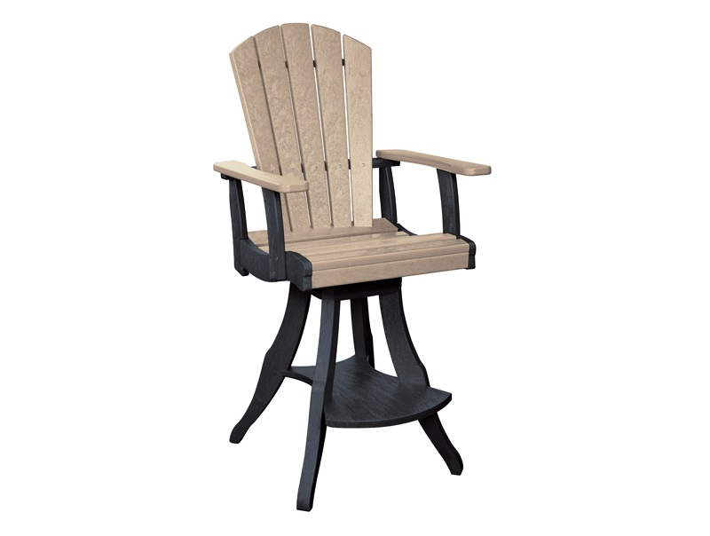 Cottagespot Recycled Plastic Swivel Pub Chair