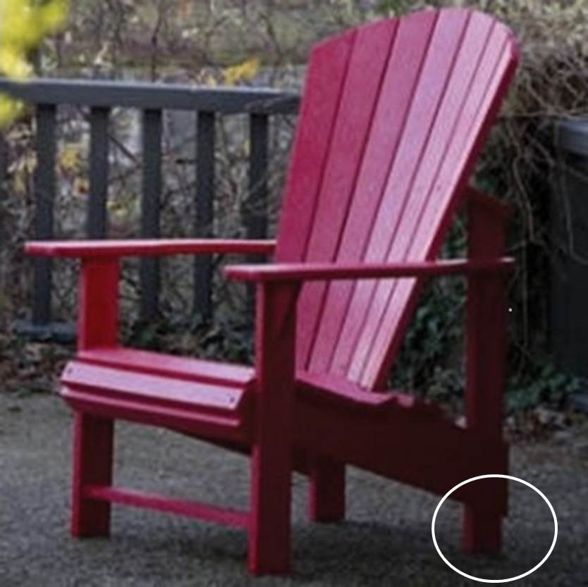 Cottagespot Recycled Plastic Adirondack Chair Upright
