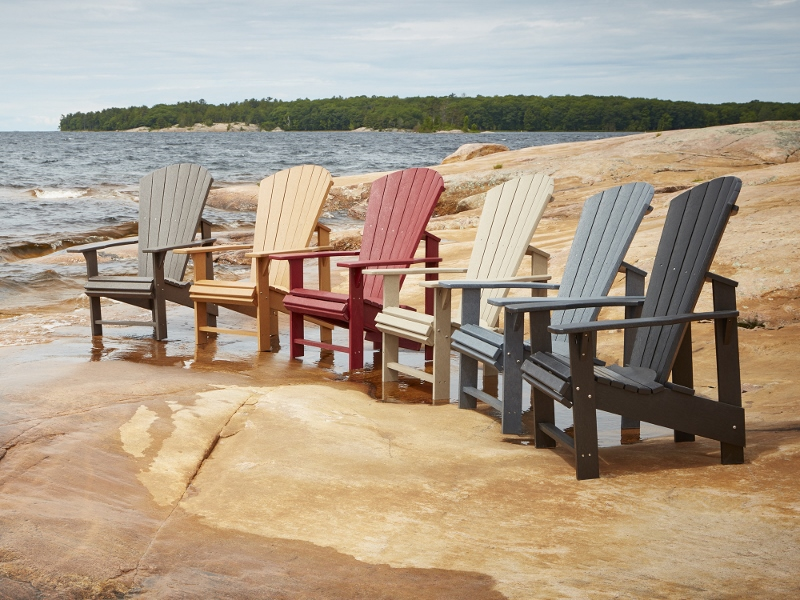 Recycled Plastic Upright Adirondack Chairs