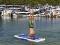 Aquaglide Yoga Mat in Action 1