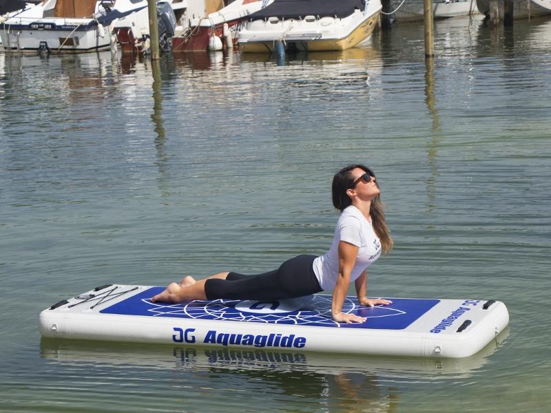 Aquaglide Yoga Mat in Action